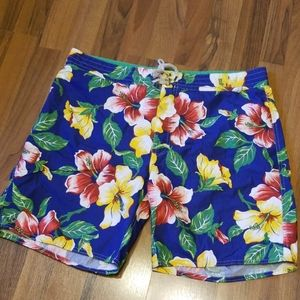 Ralph Lauren Polo Tropical Hawaiian Swim Trunks